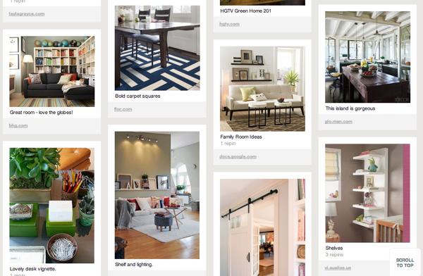 Pinterest home