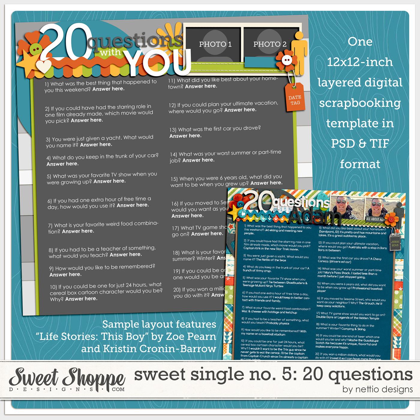 New Release | Sweet Single No  5: Twenty Questions