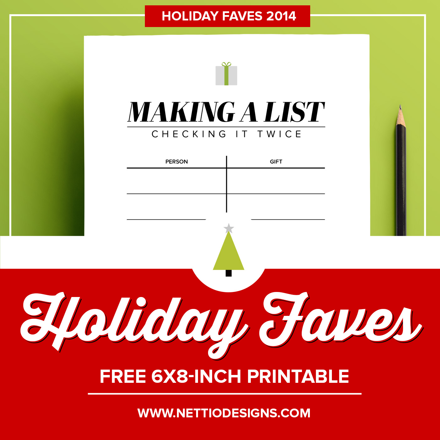 holiday faves 6×8 printable template making a list the holiday faves 6×8 inch printable template here