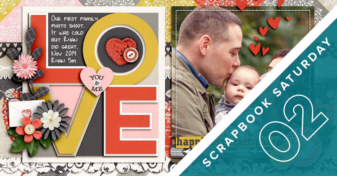 Scrapbook Saturday 02 Scaling Down a Template | NettioDesigns